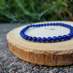 Bracelet 4mm lapis-lazuli