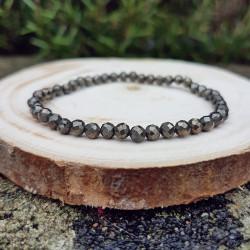 Bracelet facetté pyrite