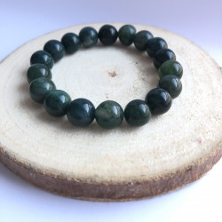 Bracelet 10mm agate mousse