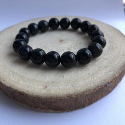 Bracelet 10mm obsidienne...