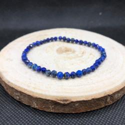 Bracelet facetté Lapis-lazuli