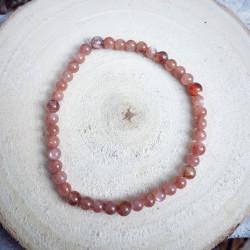 Bracelet Lugnasad, pierre de soleil, vue de haut.