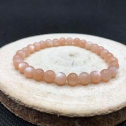 Bracelet 6mm pierre de lune